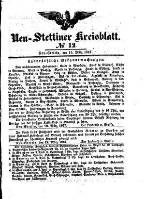 Neustettiner Kreisblatt vom 15.03.1867