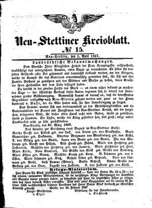 Neustettiner Kreisblatt vom 05.04.1867