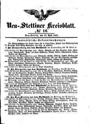 Neustettiner Kreisblatt on Apr 12, 1867