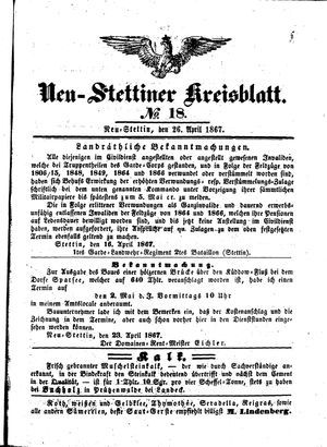 Neustettiner Kreisblatt vom 26.04.1867