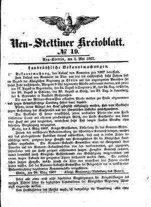 Neustettiner Kreisblatt on May 3, 1867