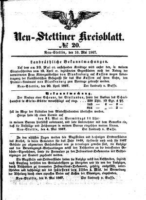 Neustettiner Kreisblatt vom 10.05.1867