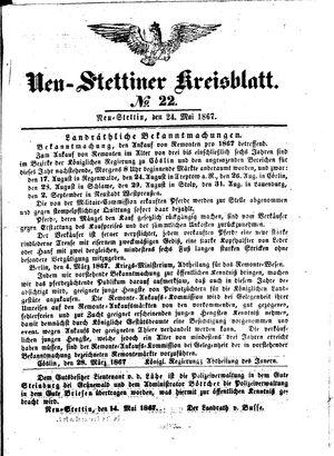 Neustettiner Kreisblatt vom 24.05.1867
