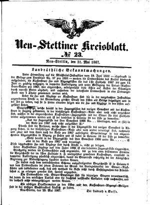 Neustettiner Kreisblatt vom 31.05.1867