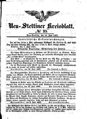 Neustettiner Kreisblatt vom 14.06.1867