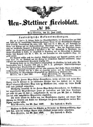 Neustettiner Kreisblatt vom 21.06.1867