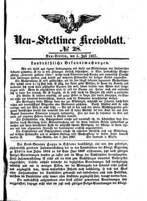 Neustettiner Kreisblatt vom 05.07.1867
