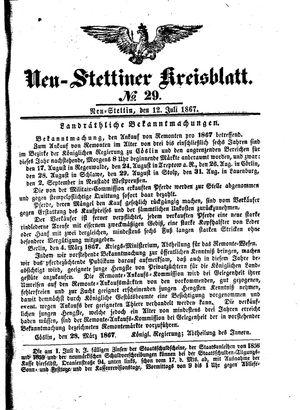 Neustettiner Kreisblatt vom 12.07.1867