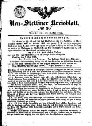 Neustettiner Kreisblatt vom 19.07.1867