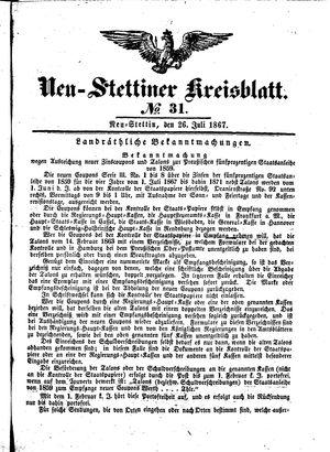 Neustettiner Kreisblatt vom 26.07.1867