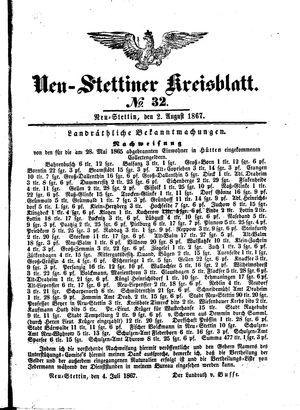 Neustettiner Kreisblatt vom 02.08.1867