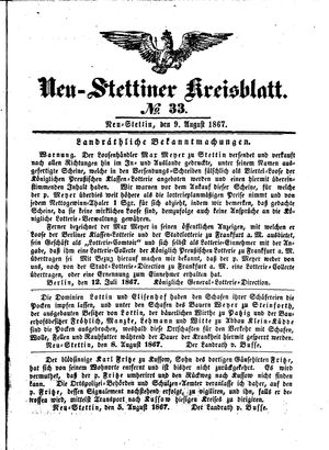 Neustettiner Kreisblatt vom 09.08.1867
