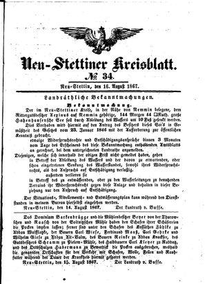 Neustettiner Kreisblatt vom 16.08.1867