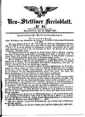 Neustettiner Kreisblatt vom 23.08.1867