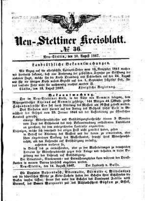 Neustettiner Kreisblatt vom 30.08.1867