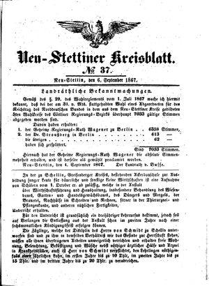 Neustettiner Kreisblatt on Sep 6, 1867