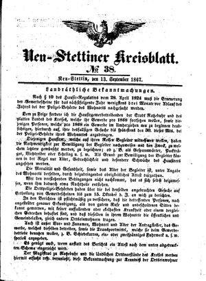 Neustettiner Kreisblatt vom 13.09.1867
