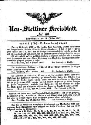 Neustettiner Kreisblatt vom 18.10.1867