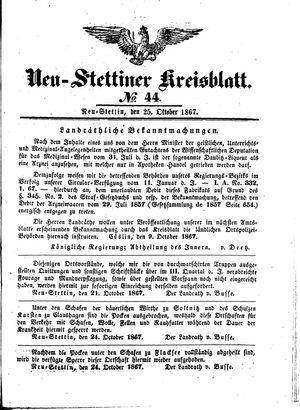 Neustettiner Kreisblatt on Oct 25, 1867