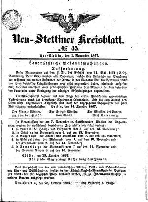 Neustettiner Kreisblatt vom 01.11.1867