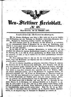Neustettiner Kreisblatt on Nov 22, 1867