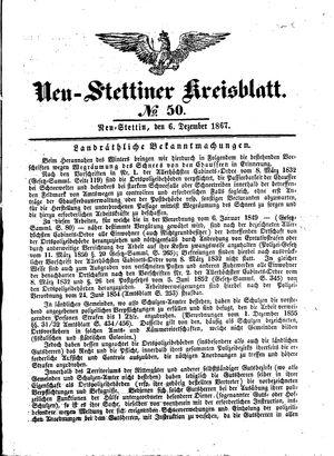 Neustettiner Kreisblatt vom 06.12.1867