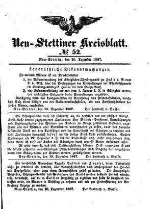 Neustettiner Kreisblatt vom 20.12.1867