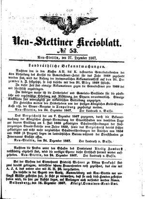 Neustettiner Kreisblatt vom 27.12.1867