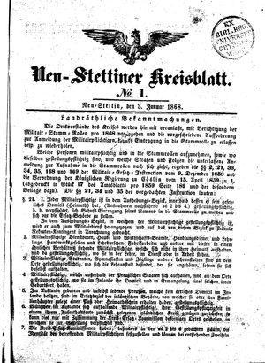 Neustettiner Kreisblatt vom 03.01.1868