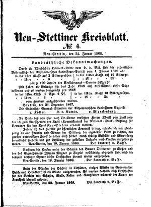 Neustettiner Kreisblatt on Jan 24, 1868