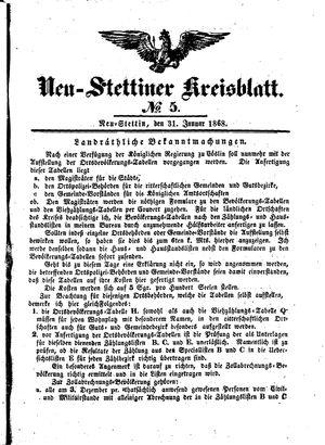 Neustettiner Kreisblatt vom 31.01.1868
