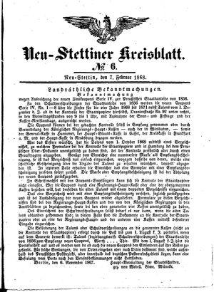 Neustettiner Kreisblatt vom 07.02.1868