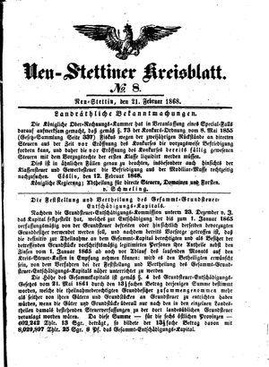 Neustettiner Kreisblatt vom 21.02.1868