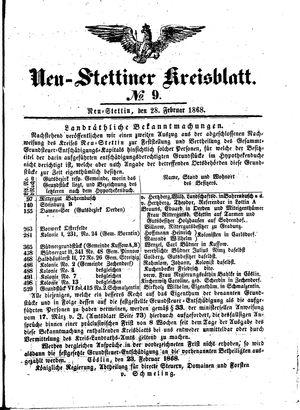 Neustettiner Kreisblatt vom 28.02.1868