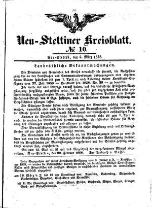 Neustettiner Kreisblatt vom 06.03.1868