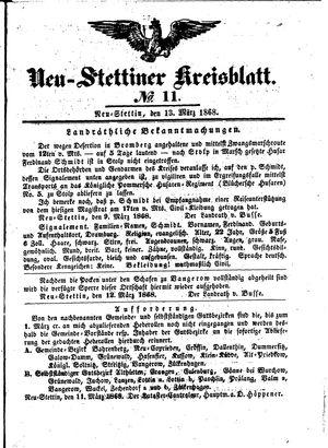 Neustettiner Kreisblatt vom 13.03.1868