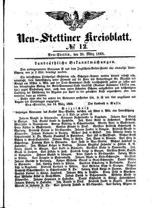 Neustettiner Kreisblatt vom 20.03.1868