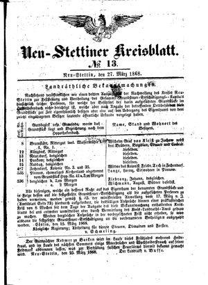 Neustettiner Kreisblatt vom 27.03.1868