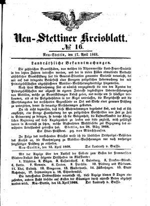 Neustettiner Kreisblatt vom 17.04.1868