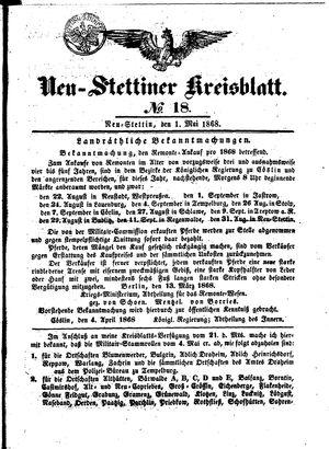 Neustettiner Kreisblatt vom 01.05.1868