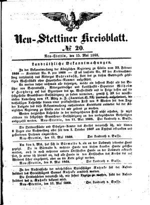 Neustettiner Kreisblatt vom 15.05.1868