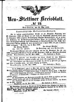 Neustettiner Kreisblatt vom 29.05.1868