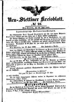 Neustettiner Kreisblatt on Jun 26, 1868