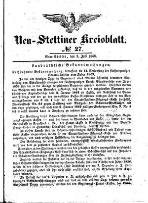 Neustettiner Kreisblatt vom 03.07.1868