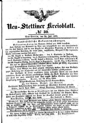 Neustettiner Kreisblatt vom 24.07.1868