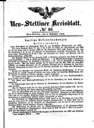 Neustettiner Kreisblatt vom 04.09.1868