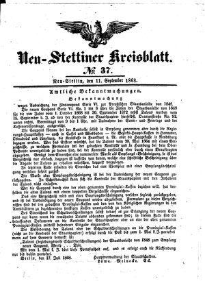 Neustettiner Kreisblatt vom 11.09.1868