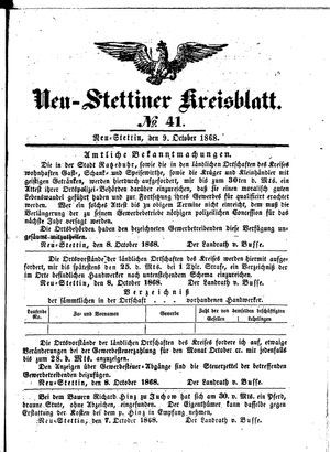 Neustettiner Kreisblatt vom 09.10.1868