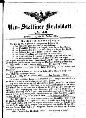 Neustettiner Kreisblatt vom 23.10.1868