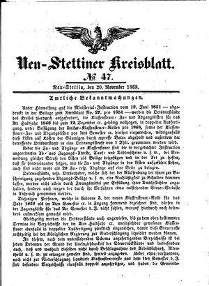 Neustettiner Kreisblatt on Nov 20, 1868